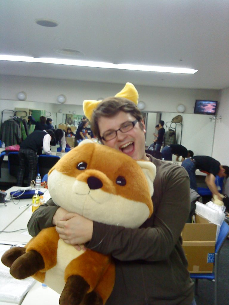 John Resig featuring Foxkeh and Foxmosa ears