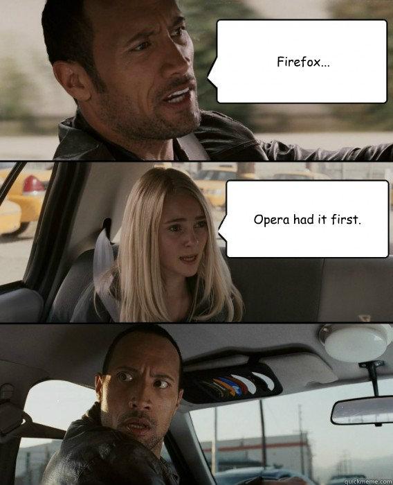 Opera had it first!